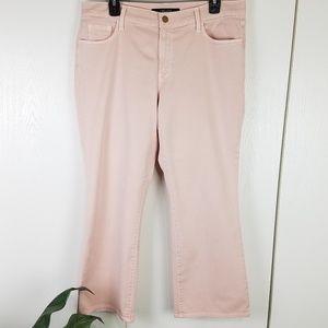J Brand pink stretchy straight leg jeans size 32